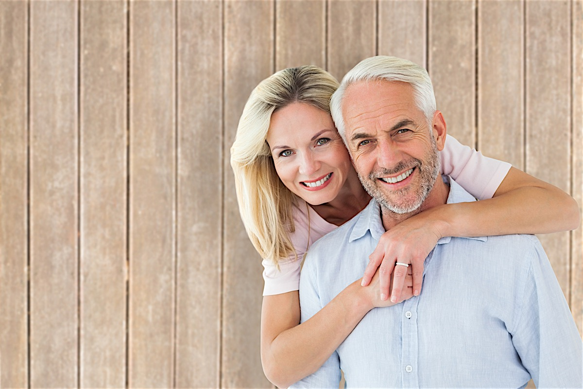 Smiling Couple with Dental Implants in Birmingham Alabama